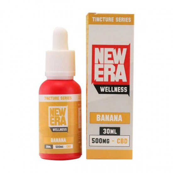 New Era Wellness 500mg CBD Tincture Series 30ml - Flavour: Banana