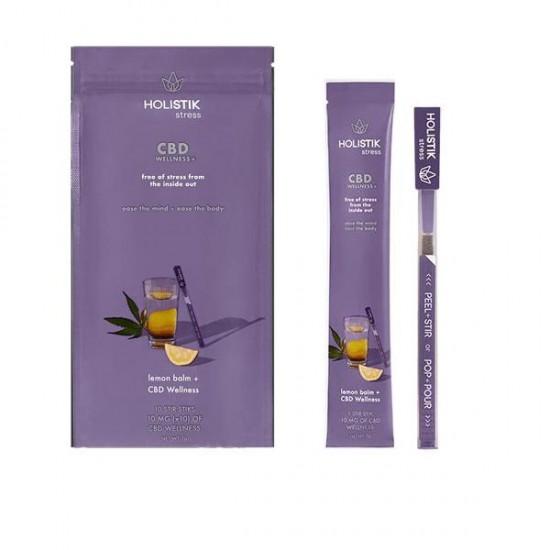 HOLISTIK Wellness 10mg CBD Stir STIKs - Full Pack - Flavour: HOLISTIK stress