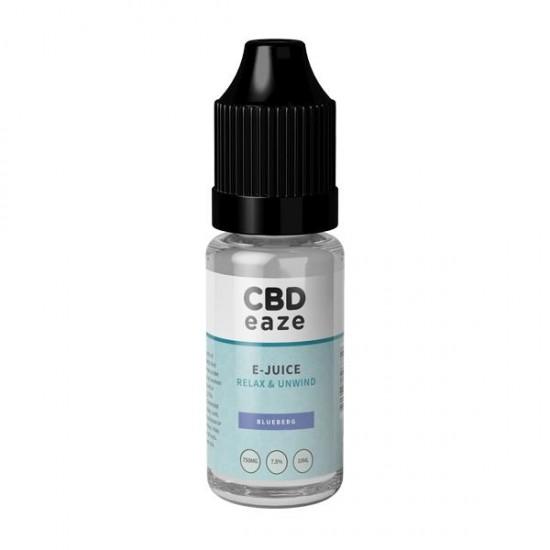 CBDeaze Broad Spectrum 750mg CBD 10ml E-Liquid (70VG/30PG) - Flavour: Blueberg